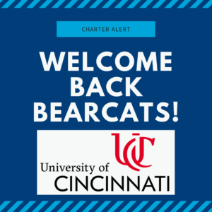 Charter Alert: Welcome Back Bearcats!